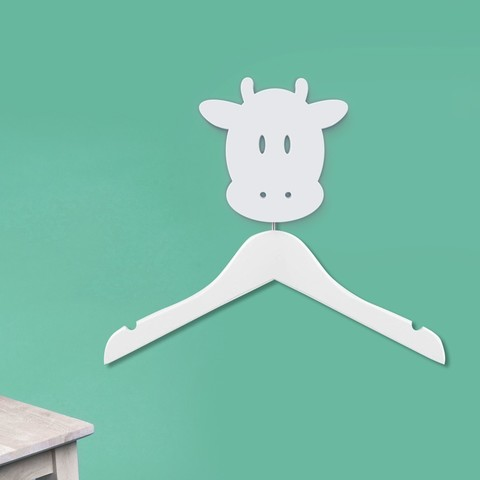 Download free 3D printing models Cow hanger holder - Coat hanger - Hook for animals - Coat hanger - wall hanging - wall decoration, atelier-cubic
