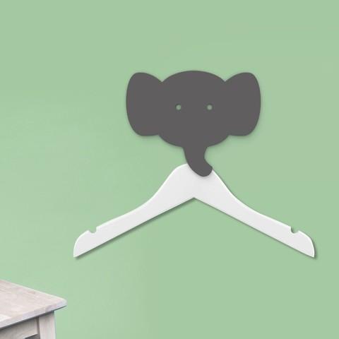Imprimir en 3D gratis Perchero elefante - Colgador para abrigos - Colgadores para animales - Colgadores - Colgadores de pared - Decoración de pared, atelier-cubic