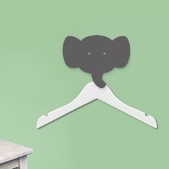 Free STL file Elephant coat hanger holder - Coat hook - Animal hooks - coat hooks - wall hangers - wall decoration, atelier-cubic