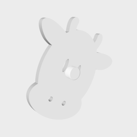 porte-cintre-vache2.png Download free STL file Cow hanger holder - Coat hanger - Hook for animals - Coat hanger - wall hanging - wall decoration • Template to 3D print, atelier-cubic