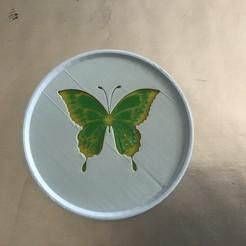 Télécharger fichier 3D gratuit Dessous de verre papillon, gmlipp