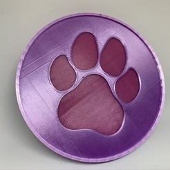 33B8994E-B4FD-46C0-B77E-96024A3DD7AF_1_105_c.jpeg Download free STL file Doggy Paw Drink Coaster • 3D printable model, gmlipp