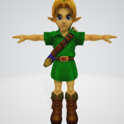 Download 3D printer templates Link child in OOT, Linkhero