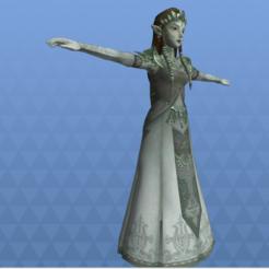 Descargar archivos STL El adulto Zelda Princess poseía a la princesa del crepúsculo, Linkhero
