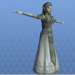 Download STL file Adult Zelda Princess owned twilight princess, Linkhero