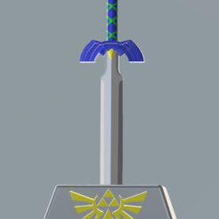 Télécharger fichier impression 3D Epee de legende (excalibur) sur son pied d'estale., Linkhero