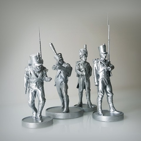 3D printing model Pack of 4 Napoleonic soldiers., Alphonse_Marcel