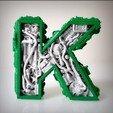 3D printing model Steampunk letter K, Alphonse_Marcel