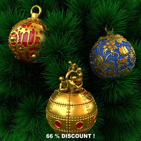 STL files Christmas decorations, Christmas ornaments., Alphonse_Marcel