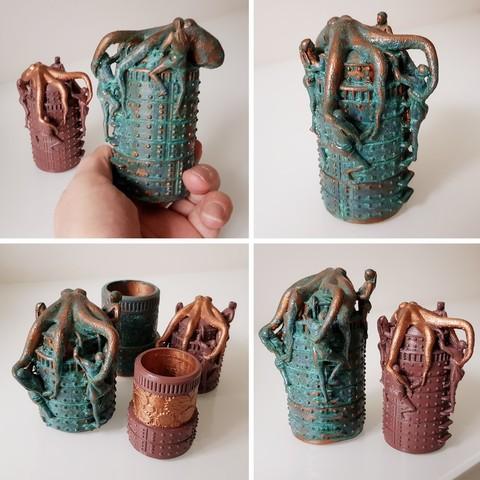 3D printing model Steampunk octopus box, steampunk box, Alphonse_Marcel