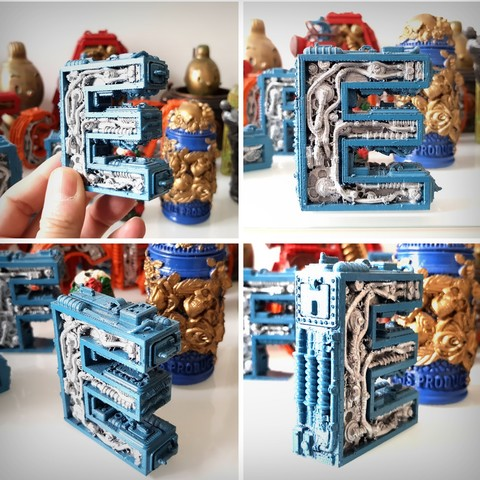 Download 3D printing models Alphabet Letter E Steampunk, Alphonse_Marcel