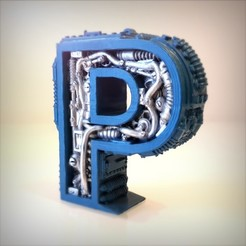 Download 3D printing files Steampunk Letter P, Alphonse_Marcel