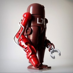 3D printer files Steampunk robot., Alphonse_Marcel