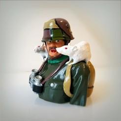Download 3D printer templates German rat soldier, Alphonse_Marcel