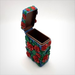 Download 3D model Box with hinge, printed in one part, inspired by romantic., Alphonse_Marcel