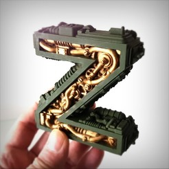 Download 3D printer model Steampunk letter Z., Alphonse_Marcel