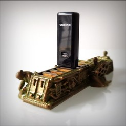 STL files Steampunk USB Holder, Alphonse_Marcel