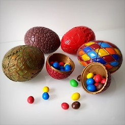 3D printer models Easter eggs pack., Alphonse_Marcel
