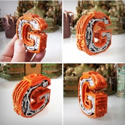 Download 3D printing files Letter G Steampunk, letter G, Alphonse_Marcel
