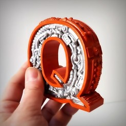 Download STL files STEAMPUNK LETTER Q, Alphonse_Marcel