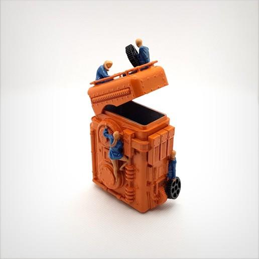 Télécharger fichier imprimante 3D Dieselpunk robot box., Alphonse_Marcel