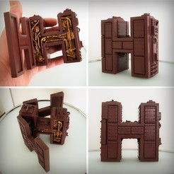 Download 3D printer files Letter H Steampunk, Alphonse_Marcel