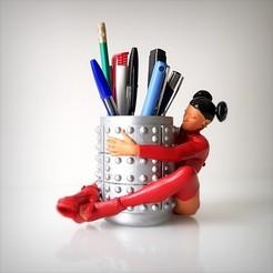 Modèle 3D Nikita pencil case, pot à crayon., Alphonse_Marcel