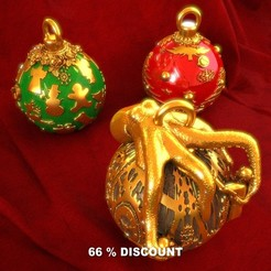 3D printer models Christmas decorations., Alphonse_Marcel