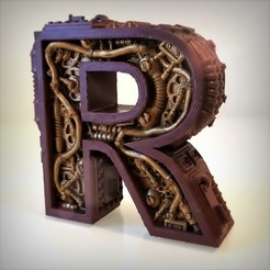 Download 3D printing models STEAMPUNK LETTER R., Alphonse_Marcel