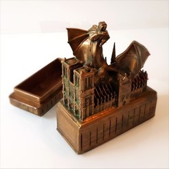 Vignette_ND_Patina_00002.jpg Download free STL file Dragon and Notre Dame. • 3D printing design, Alphonse_Marcel