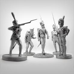 Télécharger plan imprimante 3D Pack of 5 Napoleonic soldiers., Alphonse_Marcel