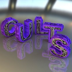 Lettres_Cults_Rendu_01_Ret.jpg Download free STL file Steampunk Letter C.U.L.L.T.S • 3D printer model, Alphonse_Marcel