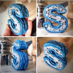 Modèle 3D Steampunk letter S, Alphonse_Marcel