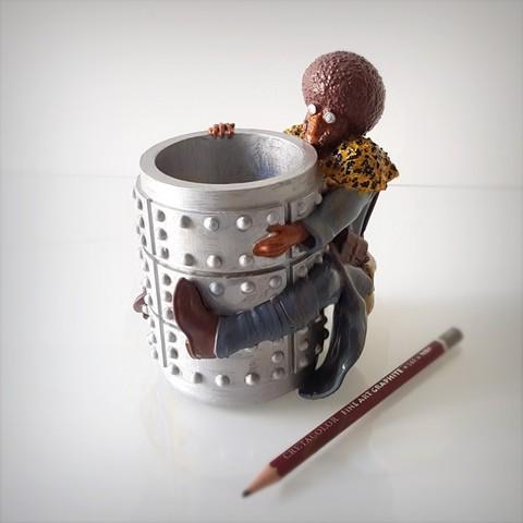 Download 3D printer designs Afro pen holder., Alphonse_Marcel