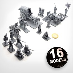 Download 3D printer designs Mini Napoleonic Soldiers Bundle Pack., Alphonse_Marcel
