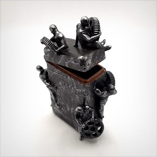 Télécharger fichier impression 3D Boite steampunk avec charnière., Alphonse_Marcel