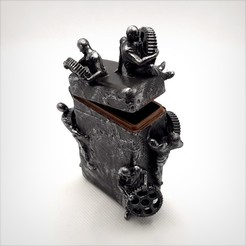 Descargar modelos 3D Caja Steampunk con bisagra., Alphonse_Marcel