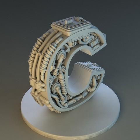 Download STL file Letter C Steampunk • 3D printing design, Alphonse_Marcel