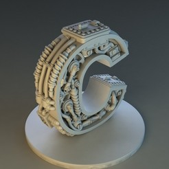 Download STL file Letter C Steampunk • 3D printing design, Alphonse_Marcel