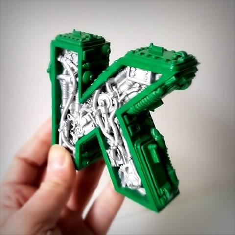 Télécharger modèle 3D Steampunk letter K, Alphonse_Marcel