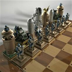 WW1_Steampunk_Chess_Game_23b.jpg Download STL file WW1 steampunk chess game. • 3D printable template, Alphonse_Marcel