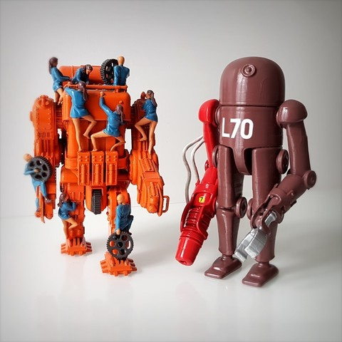 3D printer files Retro-futuristic robots, Alphonse_Marcel