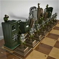WW1_Steampunk_Chess_Game_15b.jpg Download STL file WWI steampunk chess game, German side. • 3D printable design, Alphonse_Marcel