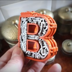 Download 3D printing files Steampunk Letter B, Alphonse_Marcel