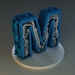 Download 3D printing designs STEAMPUNK LETTER M, Alphonse_Marcel