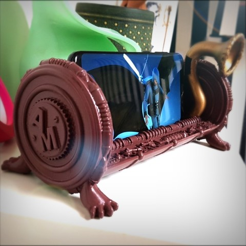 Download 3D printing templates Steampunk support mobil., Alphonse_Marcel