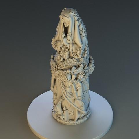 STL files Virgin Mary, Alphonse_Marcel