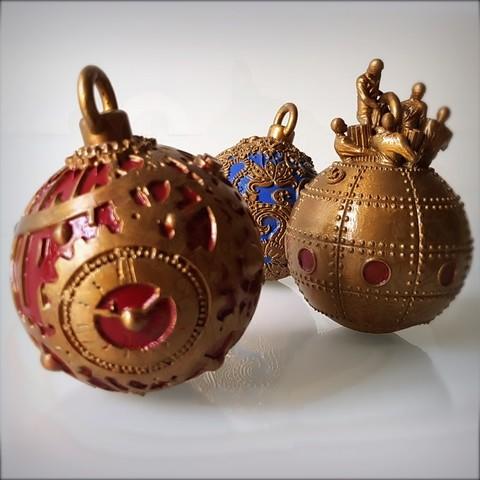 3d Printed Christmas Ornaments.Christmas Decorations Christmas Ornaments