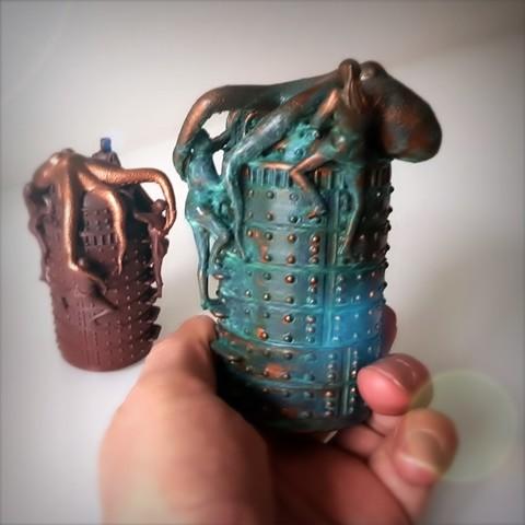 Télécharger objet 3D boite Steampunk octopus, box steampunk, Alphonse_Marcel