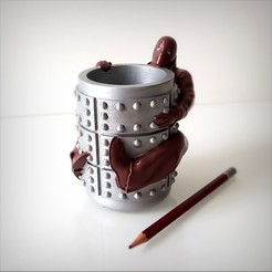 Download 3D printer files Immortal pen holder., Alphonse_Marcel